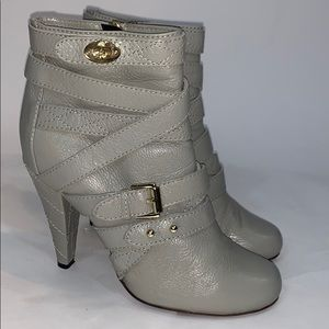 Mulberry Postman turnlock ankle boots gray size 41